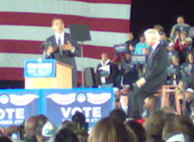 Obama and Clinton in Florida