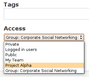 Tagging and providing access