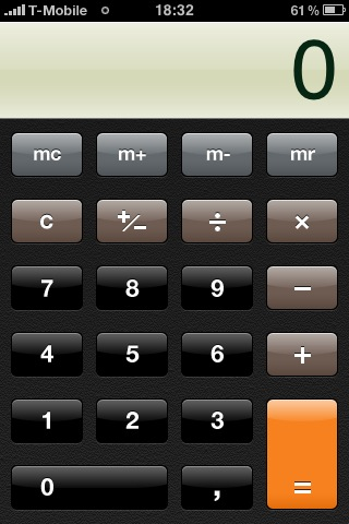 iPhone's default calculator