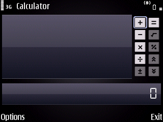 Nokia's default calculator