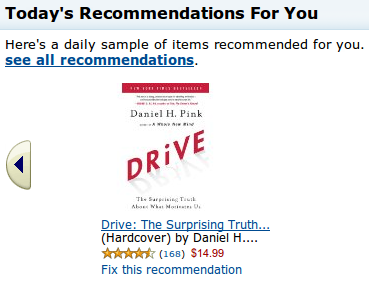 Amazon recommends the book I am already reading