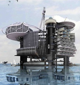 Transforming abandoned oil platforms into ocean mini cities