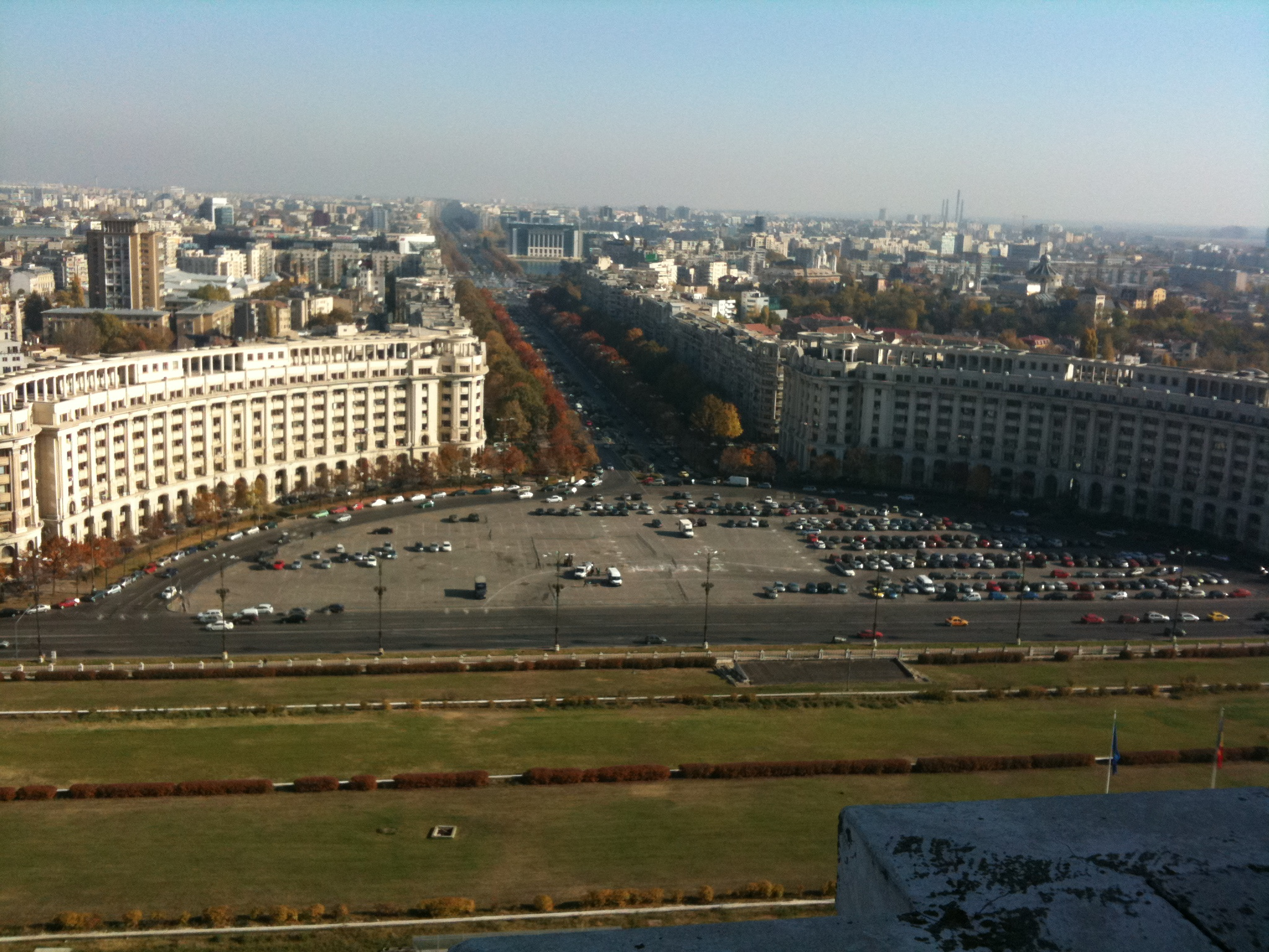 View on Bucharest from the Eight Floor of the Palace of the Parliament