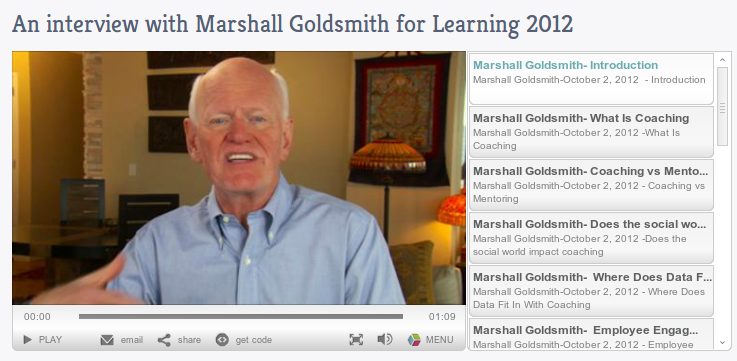 Marshall Goldsmith on video