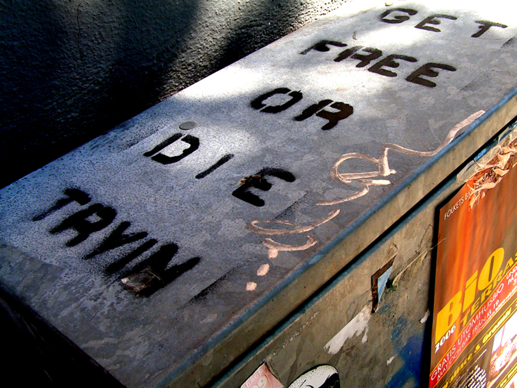 Get free or die tryin' (Flickr gebruiker: Linus Bohman, CC BY 2.0)