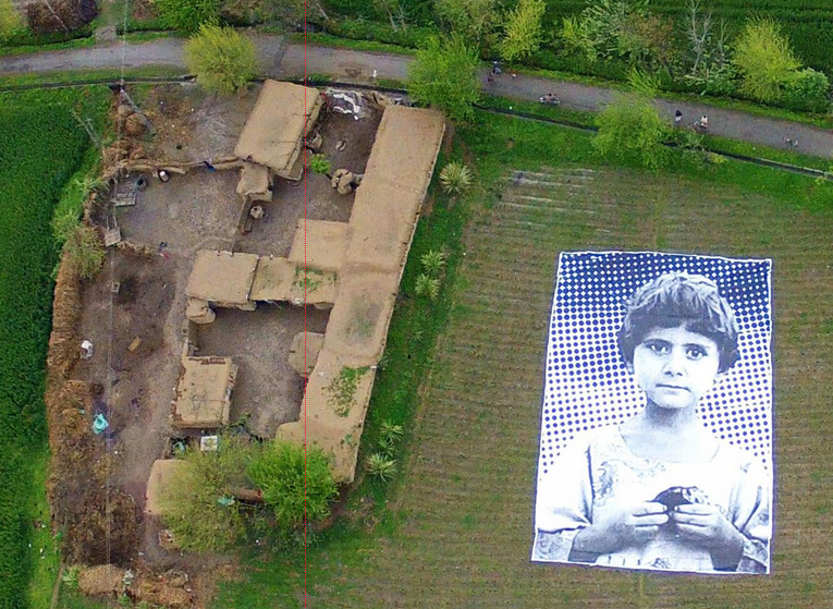 Artists in Pakistan target drones with giant posters of child victims.
