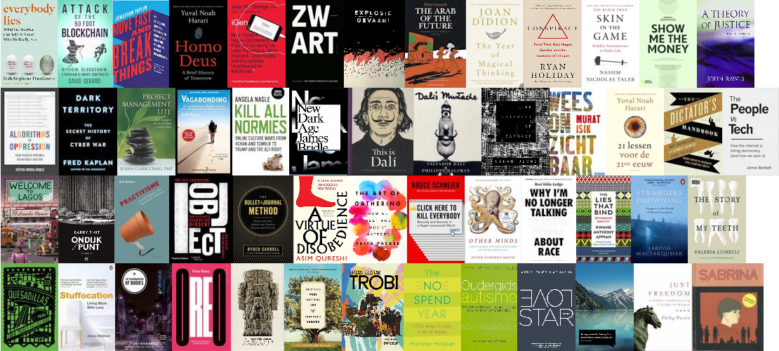Covers of all the books I read in 2018.